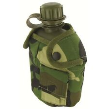 British Dpm Plastic Water Bottle In Camo Cover - Highlander Army Camouflage Cup