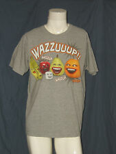 Annoying Orange Wazzuup!! Grey L Large T-Shirt Worn