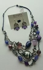 Lia Sophia Purple Haze Necklace & Earrings SET