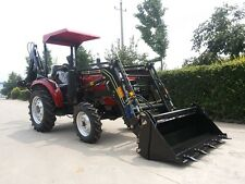 AK404 New 40hp Tractor with Front End Loader and AKLW6 Backhoe
