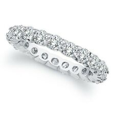 WHITE NATURAL DIAMOND WEDDING ETERNITY BAND 2.25 TCW WHITE GOLD 14K H color I1