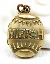 Vintage Antique Victorian Rolled Gold or Pinchbeck Mizpah Locket Necklace Chain