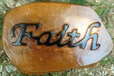 Faith Stone, Stepping Stone, Concrete Mold, plastic mold, cement, plaster
