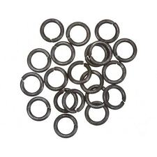 8mm Grey Black Brass Round Jump Rings 1.2mm Thick - Sold as a Pack of 20 (B93/6)