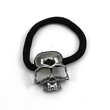 2pc Rock Skull Head Metallic Retro Hairband Hair Stretched Rope Headband Holder