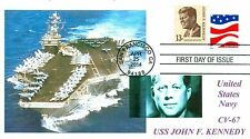 USS JOHN F.KENNEDY CV-67 Carrier Color Photo Cachet Naval First Day of Issue PM