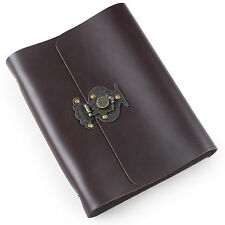 Ancicraft Refillable Leather Journal Diary With Flower Vase Lock A5 Blank Gift