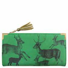 Disaster Designs Heritage & Harlequin Green Stag Deer Purse Ladies Womans Wallet