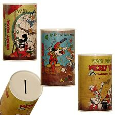 Mickey Mouse - Childrens Saving Money Box/Tin - Set of 3