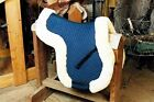 Sheepskin All-Purpose Numnah Saddle Pad Lined W/Full Rolled Edge