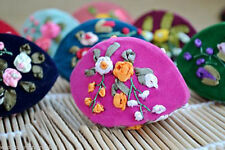 Wholesale 10 PCS CHINESE HANDMADE CLASIIC Unique Embroidered Silk Jewelry Boxes