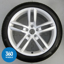 "1 X GENUINE AUDI TTRS 18"" DOUBLE SPOKE 9J ALLOY WHEEL 5.2MM TYRE 8J0601025AN"