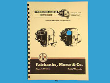 Fairbanks Morse Magneto Instruct & Parts Manual for  FM-XR & FM-X OR Mags *412