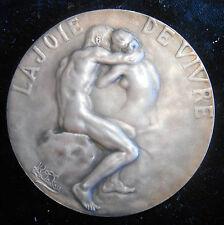 "FRANCE-1902-SAMF-""LA JOIE DE VIVRE . "" SILVER MEDAL BY LAMOURDEDIEU -NUMBER 59"