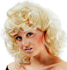 Sandy From Grease Blonde Wig Sandra D School Girl Fancy Dress