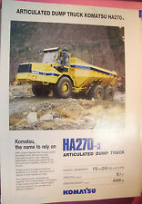 ✪altes original Prospekt/Sale Brochure Komatsu Articulated Dump Truck HA270-3