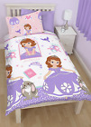 DISNEY SOFIA THE FIRST ACADEMY SINGLE DUVET QUILT COVER REVERSIBLE BEDDING SET