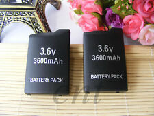 2pcs  Rechargeable Battery Back  for Sony PSP 1000 1001 1002 1003 1004 Black