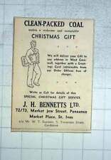 1960 Jh Bennetts Has A Welcome And Acceptable Christmas Gift, Penzance St Ives