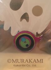 TAKASHI MURAKAMI KaiKai Kiki - Pink, Black & Green 'Jellyfish Eyes' Badge/Pin