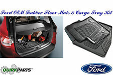 2013-2016 Ford Escape Rubber All Weather Floor Mat & Cargo Protector Liner OEM