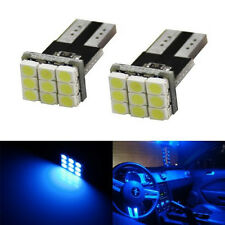 5 x 194 168 2825 W5W T10 9-SMD Map Dome License plate Blue Car LEDs light bulbs