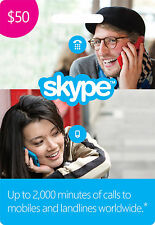 skype credit fast recevied 50$ for 38$
