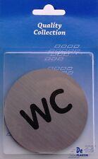 WC Shild mit Metal Look Selbstklebbend Markenqualität Türschild