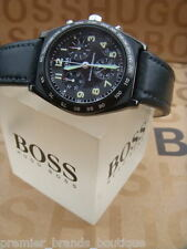 NEW HUGO BOSS MENS DESIGNER SWISS MOVADO MADE PILOT DATE CHRONOGRAPH WRIST WATCH