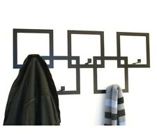 Contemporaneo quadrati Designer Coat Rack in nero dalla casa in metallo