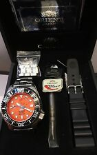 Orient He-Gas 300M Diver's Power Reserve Auto Date Bracelet Watch w/Box+Paper