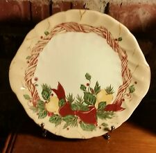 Wedgwood Home / Amway WREATH Handled Cake Plate, 1998, Christmas, Ribbon, Fruit