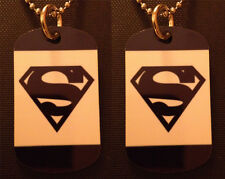 Superman 2-Sided Photo Dog Tag Necklace/ Keychain FREE & FAST SHIPPING!!