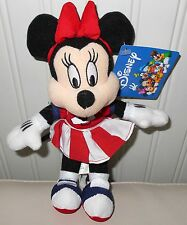 "Vintage MINNIE MOUSE Plush Stuffed Doll DISNEY 9"" TAGS"