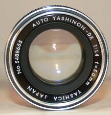Yashica Yashinon-DX 50mm f/1.4 Lens M42 fit