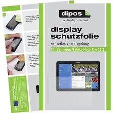 2x dipos Samsung Galaxy Note Pro 12.2 matte Displayschutzfolie Antireflex