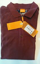 New Hugo Boss AG Mens 50278293 Maroon Puncher Orange Polo Shirt Size M Designer