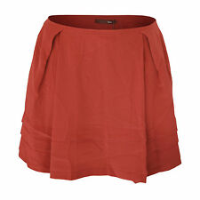 BALLY $684 tiered silk crepe brick red spring/summer 2010 mini skirt 40/6/36 NEW