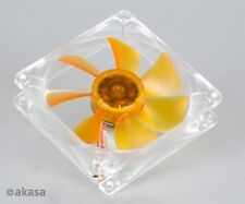 Akasa Ultra Quiet 90mm Amber Case Fan 2 Ball Bearing