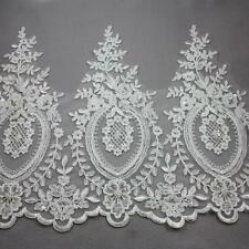 1 METRE IVORY 355mm BEADED BRIDAL LACE WEDDING DRESS TRIMMING TRIM HL2098