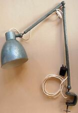 1950 Israel ORIGINAL INDUSTRIAL Floating Balanced Swing ARM LAMP Heavy METAL