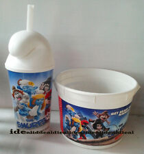 SMURFS 2 movie Popcorn Bucket + CUP, topper as a HAT from theater 2013