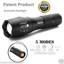 Mr. T6 CREE LED ZOOMABLE FLASHLIGHT STROBE TORCH WHITE 5 MODES 3XAAA / 18650 .