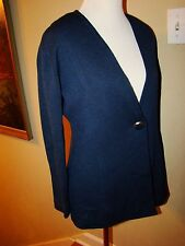 ST. JOHN NAVY BLUE BUTTON CARDIGAN SWEATER JACKET WOMENS SIZE 4