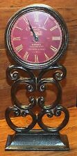 "Chateau Joullian Grand Vin Bordeaux Standing 15"" Metal Clock **Made In France**"