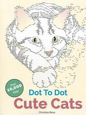 Cute Cats Dot To Dot (Adult Colouring Book) (New Large Extreme Puzzle Craft P/B)