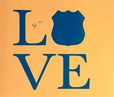 Love Support Law Enforcement Nypd Local State Police Window Decal Sticker Car