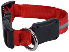 Nite Ize Medium Bright Red LED Dawg Collar Nylon Glow & Flash Modes NND2M-10-R3