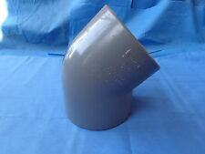 """NEW 45° ELBOW 4"""" PIPE FITTING coupling plumbing CPVC SCH 80 SPEARS USA # 817-040"""