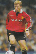 Football Photo PAUL SCHOLES Man Utd 1998-99